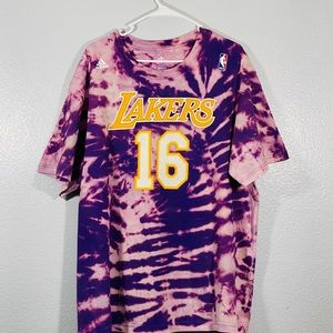 Los Angeles Lakers Pau Gasol 2XL Tie Dye T Shirt